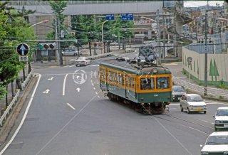 新潟交通 白山前駅付近モハ24 1987年