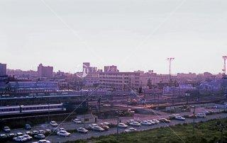 富山地方鉄道 富山駅 奥はJR富山駅 1985年6月