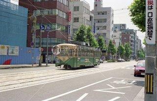 富山市内軌道線 富山駅前〜新富町7000形 平成5 1993