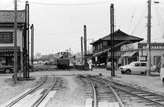 新小松駅 尾小屋鉄道 キハ1 踏切 昭和50 1975