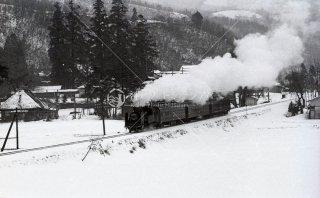 飯山線 C12+旧形客車 昭和47年頃