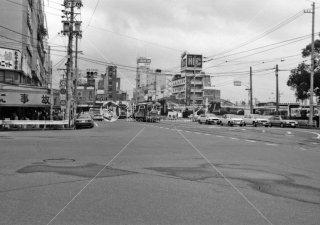 名鉄岐阜市内線 岐阜駅前 1982年9月