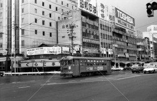 1981年8月 名鉄岐阜市内線 新岐阜駅