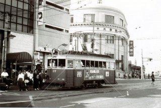 名鉄 岐阜市内線 岐阜駅前 一六銀行 昭和38 1963