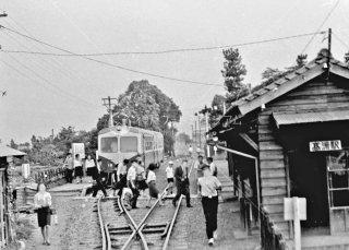 静岡鉄道 駿遠線 高洲駅 1968年9月