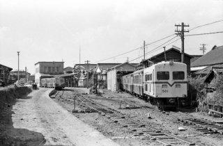 静岡鉄道 駿遠線 新藤枝駅構内 1969年10月