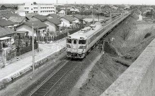 関西本線 弥富〜長島 キハ82系 特急くろしお 昭和43 1968