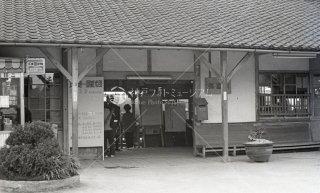 関西本線 弥富駅改札 旧駅舎 昭和43 1968