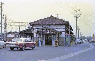 関西本線東海道本線 木曽川駅旧駅舎 昭和55,1980