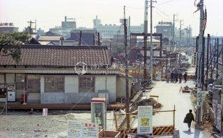 近畿日本鉄道 西桑名駅 旧駅移転工事中 北勢線 昭和52 1977