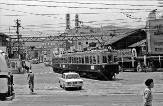 京阪電気鉄道 浜大津駅付近 京津線 京阪三条駅行き260形 1968年5月