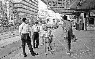 京都市電 京都駅前 4系統1864 1972年7月