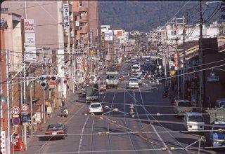 京阪電気鉄道 京津線 三条駅付近80形 1986年3月