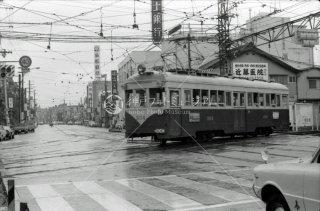 南海電鉄 大阪軌道線 上町線 住吉駅 No.304 1975年8月