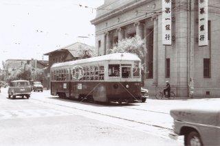 大阪市電 北浜 昭和37 1962