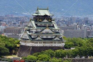 大阪城 OMMより望む