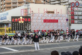 岸和田だんじり祭り 八田町少年団 東岸和田駅前土生町