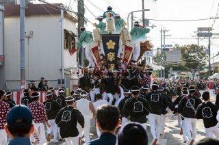 岸和田だんじり祭り 摩湯 山直下