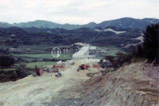 神名有料道路工事 名谷望む 昭和38年8月 1963