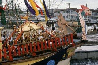 海神社秋祭り 海上渡御
