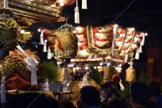 海神社秋祭 布団太鼓練り合わせ 大鳥居前 平成28
