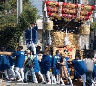 海神社秋祭 西垂水布団太鼓巡行 霞ヶ丘6丁目 急坂 平成29