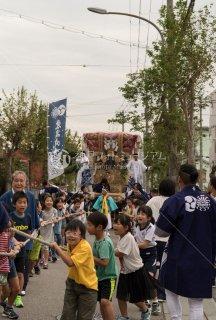 海神社秋祭 東高丸布団太鼓 養勝寺前 平成30年