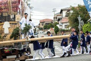 海神社秋祭 東高丸布団太鼓巡行 青山台 平成30年