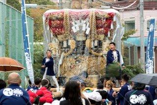 海神社秋祭 東高丸布団太鼓巡行 乙木小学校付近 平成30年