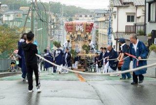 海神社秋祭 東高丸布団太鼓巡行 美山台 平成30年