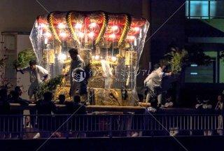 海神社秋祭 東高丸布団太鼓巡行 福田 平成30年