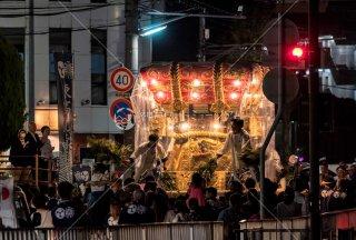 海神社秋祭 東高丸布団太鼓巡行 福田2丁目 平成30年