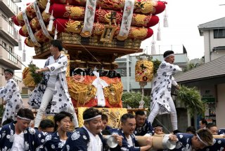 海神社秋祭 塩屋布団太鼓巡行 神戸塩屋八郵便局 平成30年