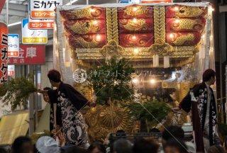 海神社秋祭 東垂水布団太鼓巡行 垂水センター街 平成30年