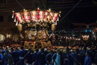 海神社秋祭 西垂水布団太鼓 海神社前 平成30年
