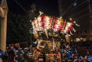 海神社秋祭 西垂水布団太鼓宮入 海神社鳥居前 平成30年