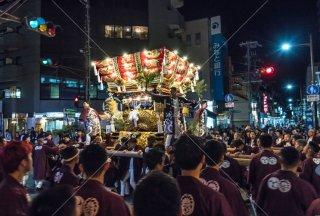 海神社秋祭 東垂水布団太鼓 神田町交差点 平成30年
