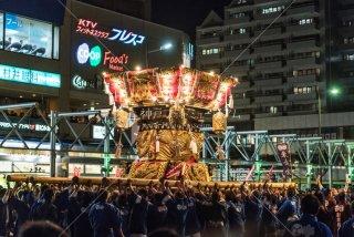 海神社秋祭 西垂水布団太鼓差し上げ レバンテ広場 平成30年
