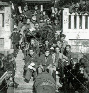 八幡神社 厄除祭 西垂水 陸之町青年会 階段 昭和22年1月18日