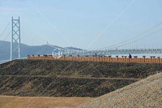 五色塚古墳 明石海峡大橋