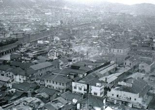 新聞会館より北東望む 昭和31,1956