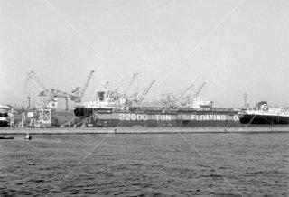 神戸港 22000TONDOG FLOATING 昭和39 1964