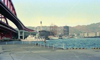 神戸大橋 ポートターミナル 海王丸と日本丸