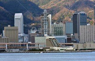 神戸市役所 ANAクラウンプラザ 神戸港より三宮遠望