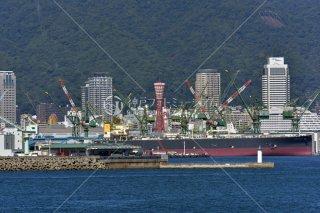 和田岬 川崎造船 神戸ポートタワー遠望