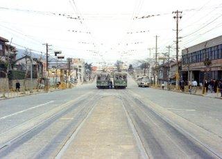 石屋川車庫付近 昭和46,1971