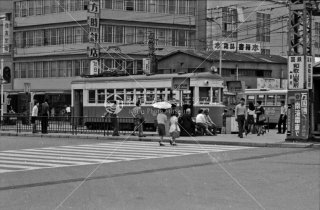 南海電鉄 和歌山軌道線 和歌山駅前停留所 1970年6月