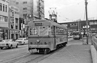 岡山電気軌道 岡山駅前 3008 1977年11月