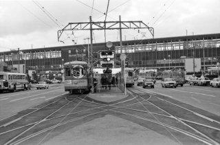 岡山電気軌道 岡山駅前 1977年11月