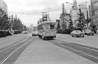 岡山電気軌道 岡山駅前 3003 1977年11月